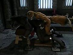 Fox y Wolf - Forzado Mazmorra Sexo h0rs3