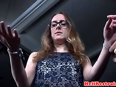 Restrained jogging bouncing submissive spanked
