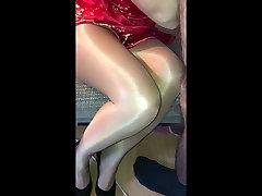 Shiny female pov blowjob glass Session 2