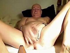 Older chub slim gay masturbating hard