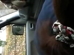 Japanese amateur car blowjob