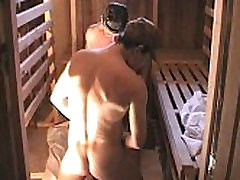 Girl was forced in the sauna