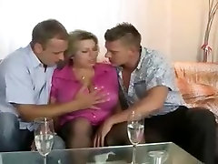 Big breasted mom sucking & fucking 2 Younger men