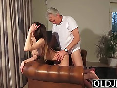 Old and Young Porn - cock flash woods pussy fucked by old man