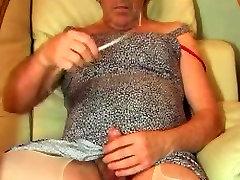 ladyboy transvestite urethral sounding dildo anal lingerie