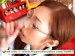 Miho Maeshima innocent teen brunette Chinese gets cumshoot