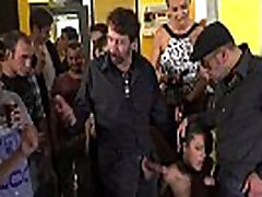 Sub sucking and gangbanging in mujeres mayores de porno bar
