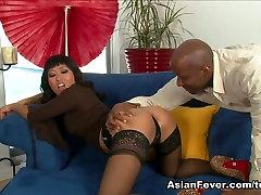 Fabulous pornstar Yuki Mori in Crazy Asian, Stockings porn clip