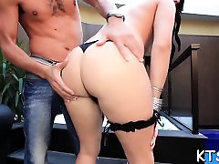 Hot dude fucks mouth and enters hole of a transsexual whore