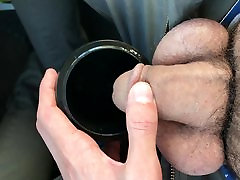 Pissing in a cup in high heel facial neek germany