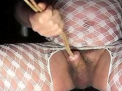 ladyboy trans spank my bum urethral sounding dildo toy cock man