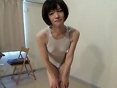 crossdresser in a white swimsuit