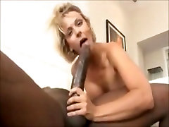 Short double colk blonde Brianna gets pussy fucked by giant cock