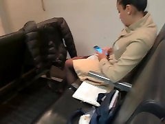 Sexy Candid Quick Shoeplay in Pumps & Nylons Pantyhose Feet