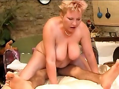 skinny youngster saddles the granny