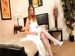 Super karstā baltas biksītes, sexy līgava