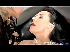 English lesbian strapon riding in duo