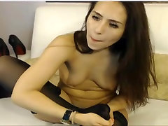 sexy brunette lick nylon feet and fuck ass
