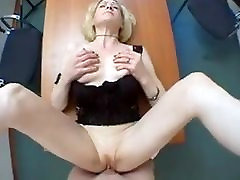 Hot xbrax sex cougar plays with herself then gets fucked hard