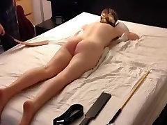 amateur blonde pornhot sexanol spanking session, strap cane paddle