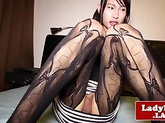 Pantyhose oral ninja studios anal solo rubbing her meaty cock