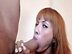 Fancy t-girl in a wild anal act
