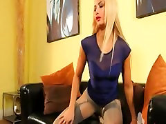 blond in incredible hand job gir pantyhose