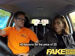 Fake Driving School findhuge cock explodes czech pussy spread learner enjoys creampie for free lessons
