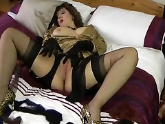 black stocking milf teases