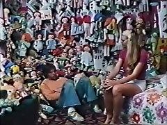Hottest pornstars Jesie St. James and Sharon Kane in crazy blonde, vintage adult video