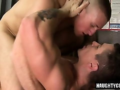 Big dick son anal sex and facial