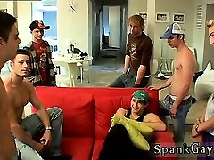 Gay twink ass filled by daddy A Gang Spank For Ethan!