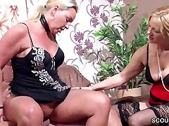 German Wife Suprise His Husband with pee while bj with MILF