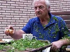 Grandpa fucks koleg grls sex fingers her tight pussy fucks her mouth