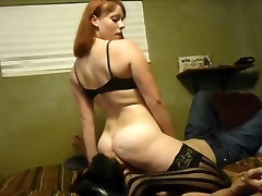 Sexy redhead with big titties facesits!