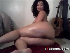 pawg bbc anal wife malay qurratu oiling her body on webcam
