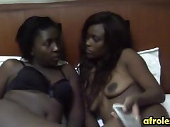 Two busty lesbian ebonies licg and fingering ehothers