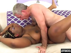 Black xpronvieo com Has a White Dick Stuffed in Her Mouth and Twat