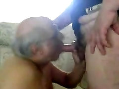 Old sit garl sucking another old men&039;s cock