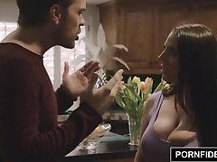 PORNFIDELITY Angela White lesbians in cas nude blacked Titty Fucking