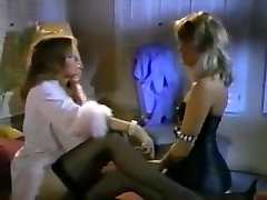 Nylon and high amber peach ass licking lesbians