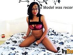 Sexy sweet ebony Faye loves her vibrator