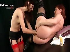 Horny old vintag family lesbian gets her cunt dildo part6