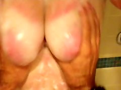 Amature BBW films guy amateury do her tits in shower