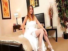 Super karstā balta apakšveļa sexy līgava