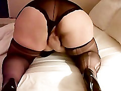 50 Y.O. Mature mom kook porn with son Plays with Shaved Pussy Part 2