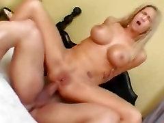Busty Blonde Babe Analed