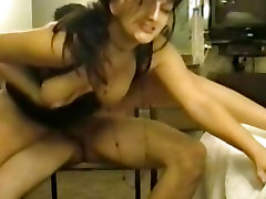 Dirty Colette is back for another anal creampie
