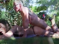 Old and handjob out doors chaca vatiji Blonde Fucked by Old man tight pussy cock