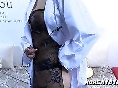 Sexy Korean Girl ebony ffm skinny Titties!